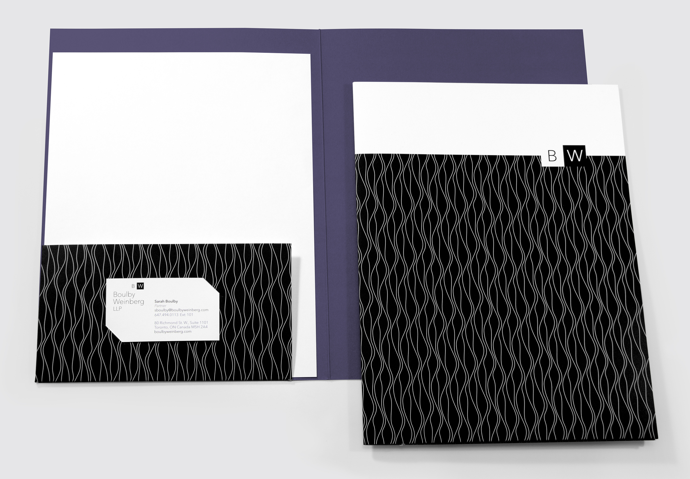 Presentation Folder, Letterhead, and Card