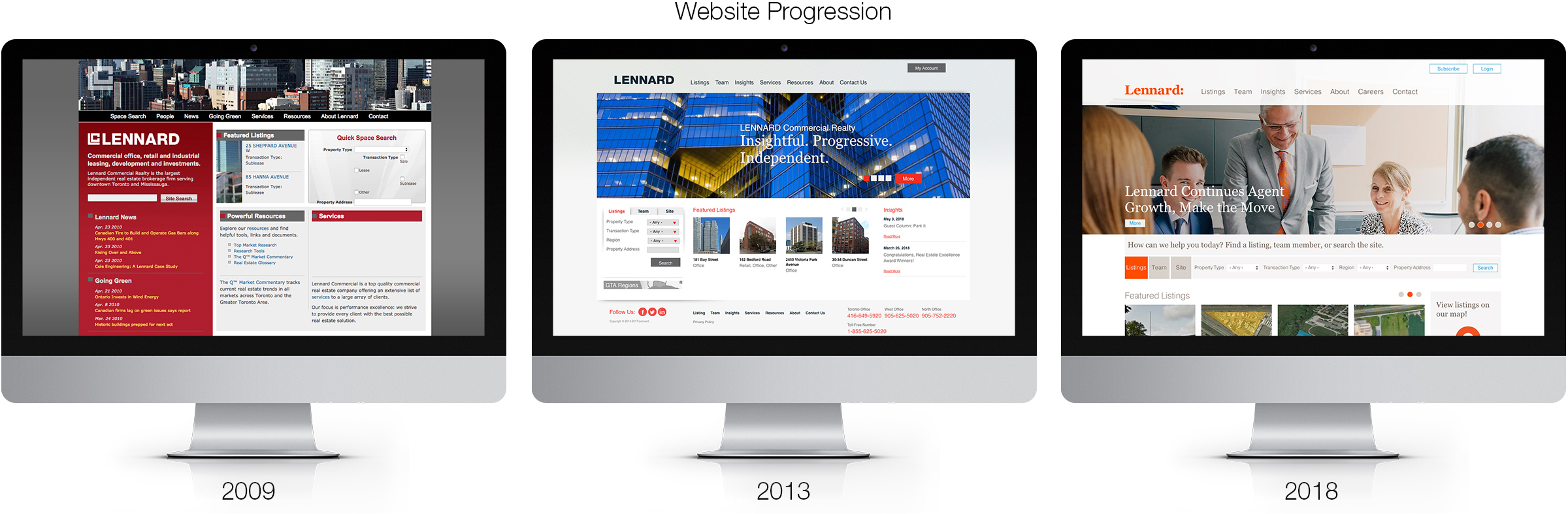 Website Progression